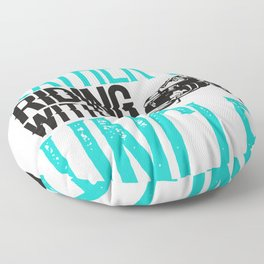 Mototcycle Uncle Rather be Riding with My Uncle Biker Floor Pillow