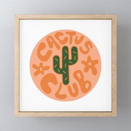 Cactus Club in Orange Framed Mini Art Print