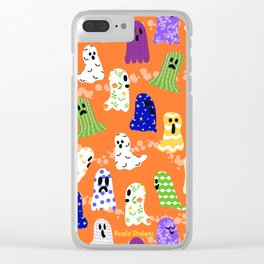 Ghosts In Designer Sheets Clear iPhone Case
