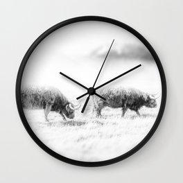 Highland Cattle Wall Clock