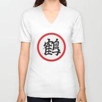 dragonball z V-neck T-shirts featuring Crane School of Martial Arts, Dragonball Z by Larsonary