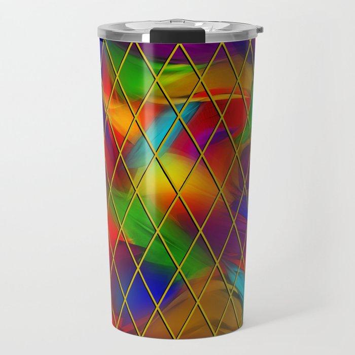 Golden Diamonds, Rainbow Void Travel Mug