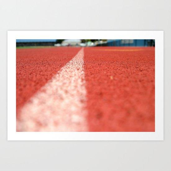 Track Line Art Print