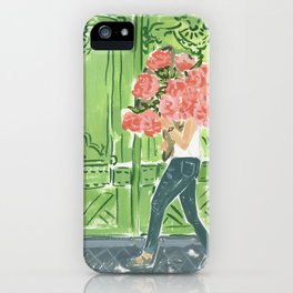 To the Market Print by Lindsay Brackeen iPhone Case