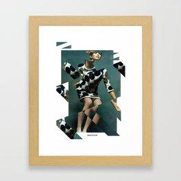 Collage Vintage Framed Art Print