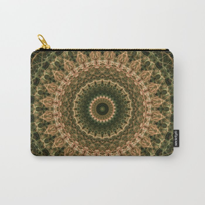Green and golden mandala Carry-All Pouch