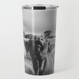 Black and White Highland Cow - Moo Travel Mug