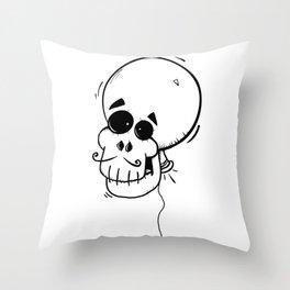 Ballon skull Throw Pillow