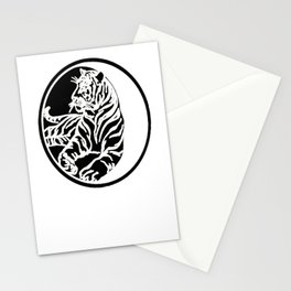 Tiger Tattoo - Black Stationery Cards