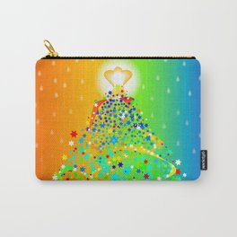 Ribbon Christmas Tree Carry-All Pouch