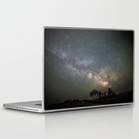 milky way Laptop & iPad Skins featuring Milky Way by Laura Stanford