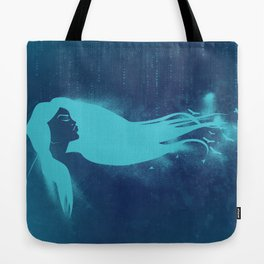 Girl In The Wind Tote Bag
