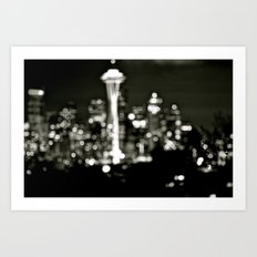 Seattle Bokeh Art Print