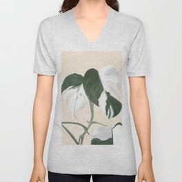 Monstera Unisex V-Neck