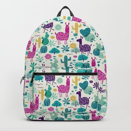 Llama desert turquoise/purple Backpack