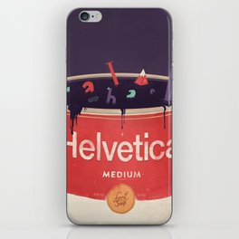 Helveti-soup iPhone Skin