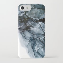 Dark Payne's Grey Flowing Abstract Painting iPhone Case