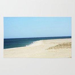 Minimalist Sand, Sea, and Sky Rug