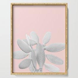 White Blush Cacti Vibes #1 #plant #decor #art #society6 Serving Tray