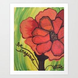 """""""be inspired"""" Art Print"""