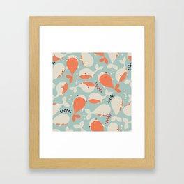 Whales 003 Framed Art Print