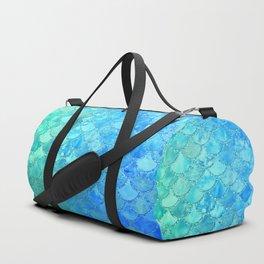 Summer Dream Colorful Trendy Mermaid Scales Duffle Bag