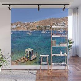 Mykonos, Greece Ocean Relaxing View Wall Mural
