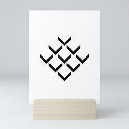 3D PFEILE EFFEKT – geometrische Wandposter schwarz weiss Mini Art Print