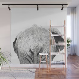 Black and white elephant animal jungle Wall Mural