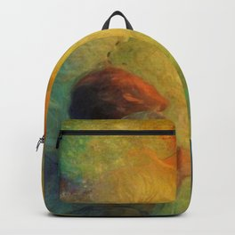 'Guardian Angel and Children' Magical Realism Portrait Painting by František Dvořák Backpack