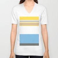 homer V-neck T-shirts featuring Essential Homer by Jake Bjeldanes