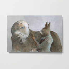Creature and Healer Metal Print