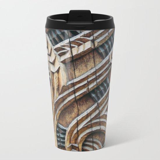 A Maori Carving Metal Travel Mug