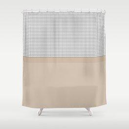Grid 9 Shower Curtain