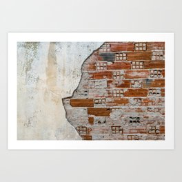 Cracked Facade Art Print