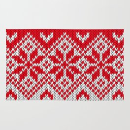 Winter knitted pattern 10 Rug