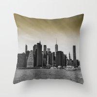 manhattan Throw Pillows featuring Manhattan by Forand Photography