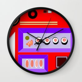 A Sushi Dinner with Tea Wall Clock