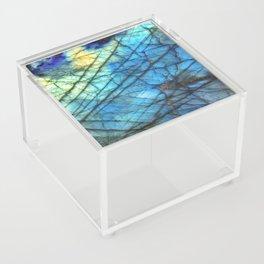 Royal Labradorite Crystal Agate Gemstone Print Acrylic Box