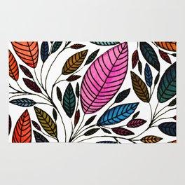 Watercolor Leaf Design Rug