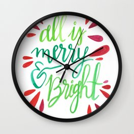 All is Merry and Bright Wall Clock