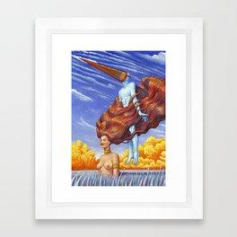 Flying Lesson Framed Art Print