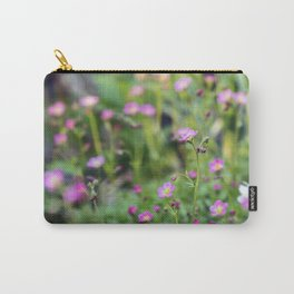 Pink Wild Flower Carry-All Pouch