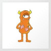 Gil the Orange Monster Art Print