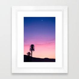 Sunrise Moon and Star over the Moroccan Desert Framed Art Print