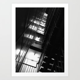 Belgrade | Staircase of a building in New Belgrade Art Print