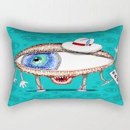 Pointillism Eye Guy Rectangular Pillow