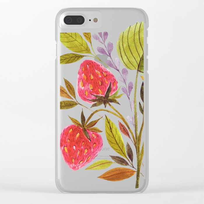 Early Summer Strawberries Are The Sweetest Clear iPhone Case