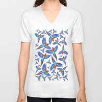 parrot V-neck T-shirts featuring Parrot. by Eleaxart
