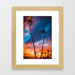 Sunset in California Framed Art Print